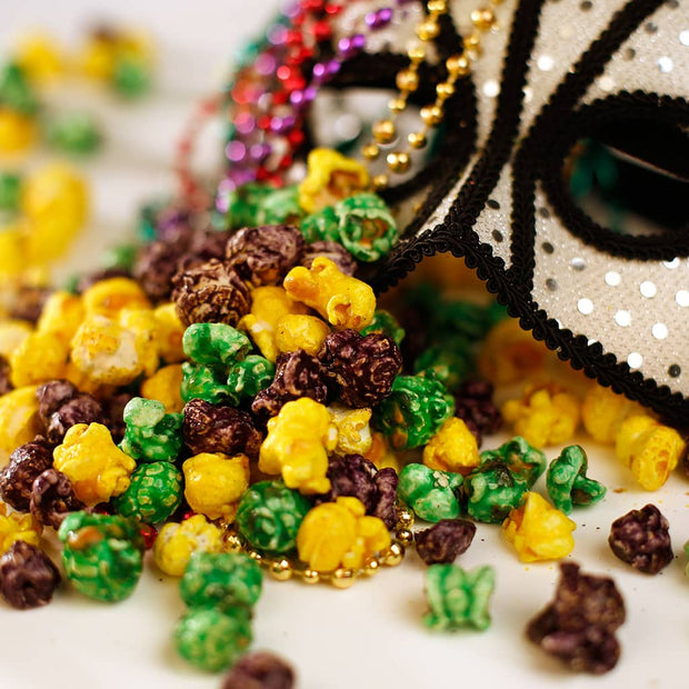 Mardi Gras Colorful Popcorn