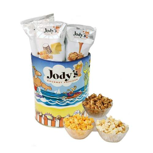 Jody's Neptune Popcorn Tin | One Gallon Gift Tin with 3 Flavors