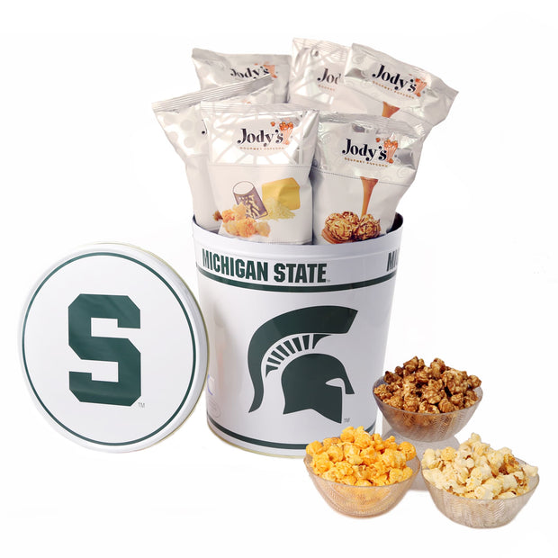 Michigan State University Popcorn Tin