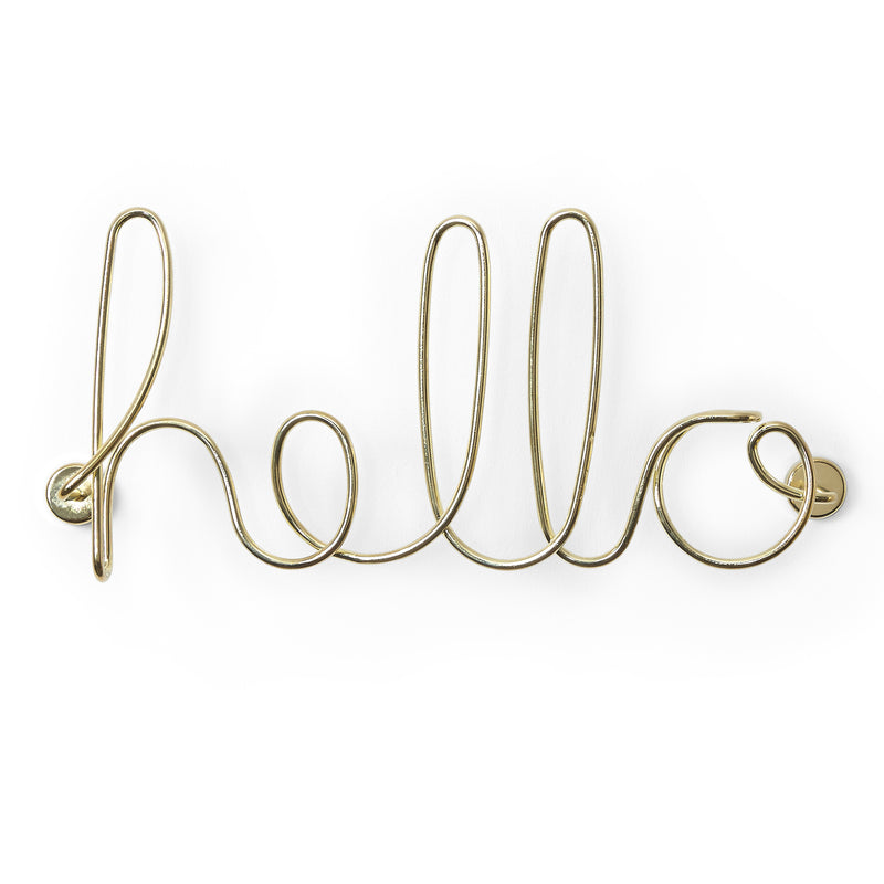 Umbra Wired Hello Brass Wall Decal | kids at home
