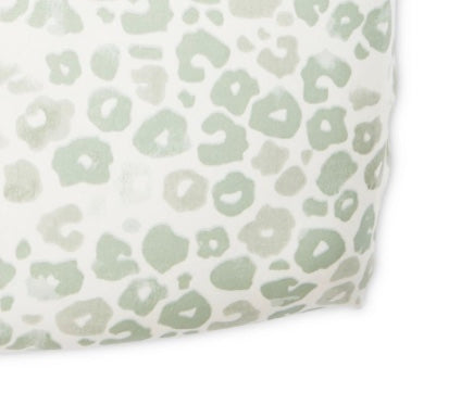 Pehr Sweet Dreams Poppy Celadon fitted crib sheet | kids at home