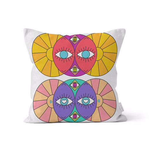 "Amy Migicovsky Rock My Soul - ""Eyes of the World I"" Throw Cushion Pillows 