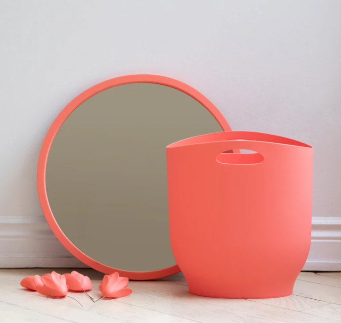 Umbra Hub Wall Mirror - Coral | kids at home