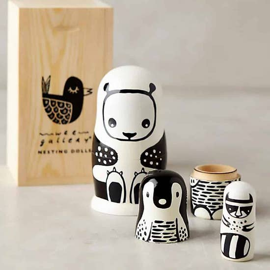 Black and White Nesting Dolls