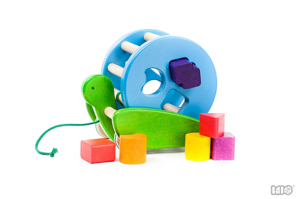 Bajo Snail shape sorter and pull