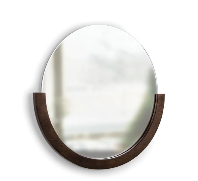 Mira Mirror - Walnut
