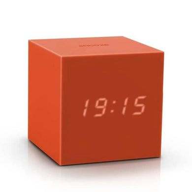 Cube Click Clock - Orange