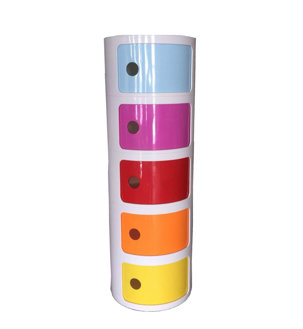 Plata Import Five Round Cabinet - Multicolour Shelving | kids at home