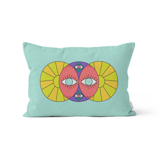 "Amy Migicovsky | Rock My Soul - ""Eyes of the World III"" Throw Cushion"