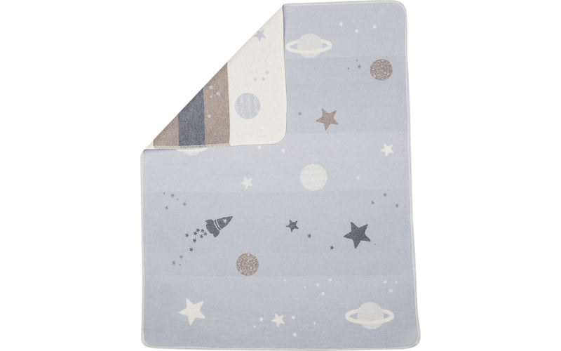 David Fussenegger Juwel Baby Blanket - Planets All Over | kids at home
