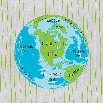 Persnickety Design The Earth Floor Pillow Cushion | kids at home