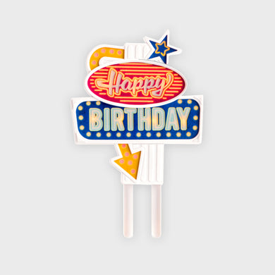 Flashing Cake Topper: ''Happy Birthday
