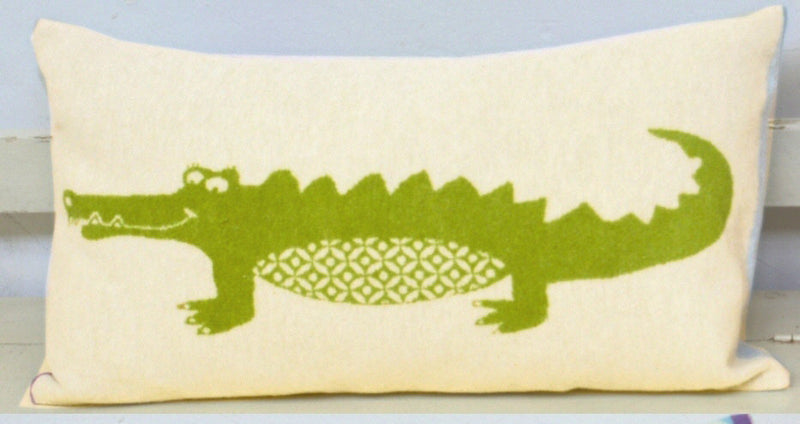 David Fussenegger Juwel Crocodile Cushion Cover Pillows | kids at home