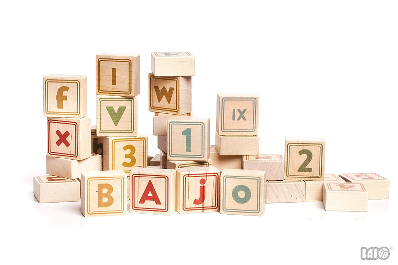 BAJO Natural Alphabet Blocks Game | kids at home