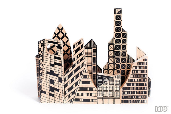 Bajo Double Sided City Puzzle