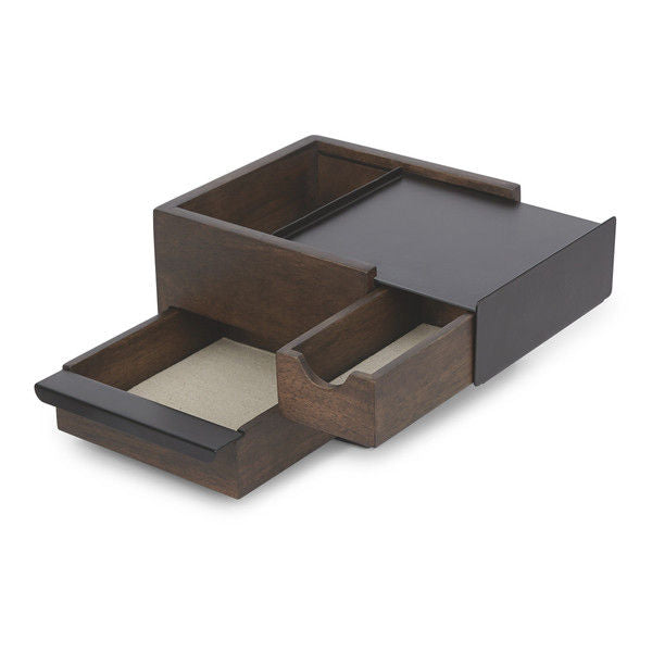 Mini Stowit Jewellery Box Walnut