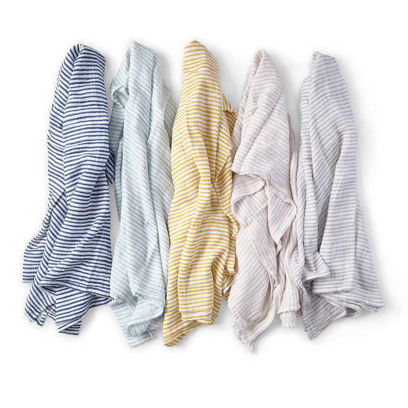 Pehr | Stripes Away Swaddle - Pebble