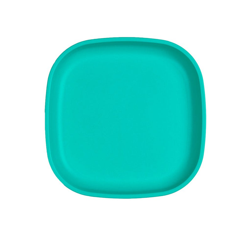 Re-Play Recycled Plastic Large Flat Plate - Aqua | kids at home