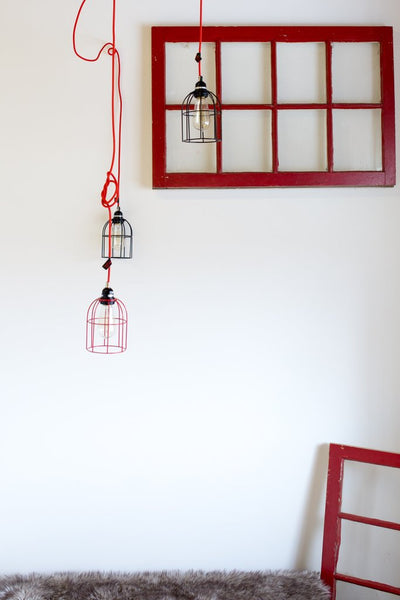 Cage Lampshade - Black
