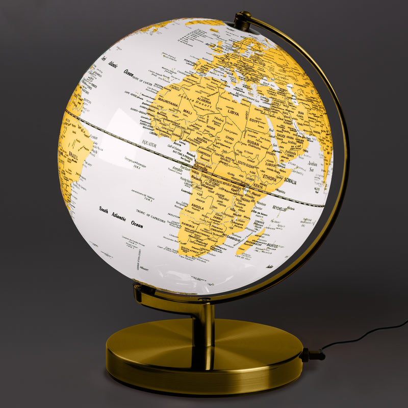 Wild & Wolf | Globe Light 10 inch - Metallic Brass & Arctic White