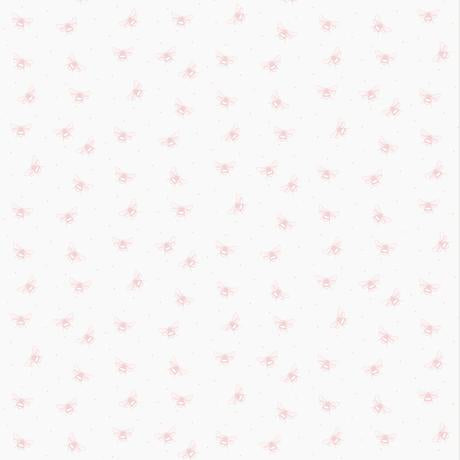 Bees White/Pink Self Adhesive Wallpaper