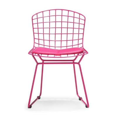 Plata Import Kids Bertoia Chair - Pink Chairs | kids at home