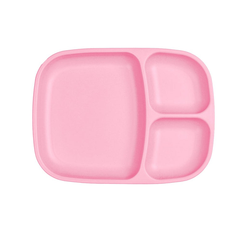 Re-Play Recycled Plastic Divided Tray - Blush Plate | kids at home