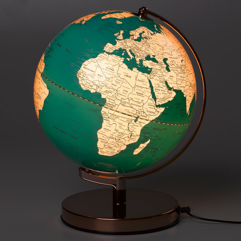 Wild & Wolf | Globe Light 10 inch - Metallic Copper & Azura Blue