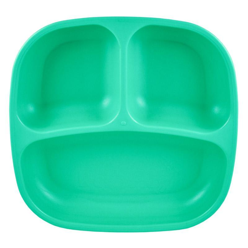 Re-Play Recycled Plastic Divided Plate - Aqua | kids at home