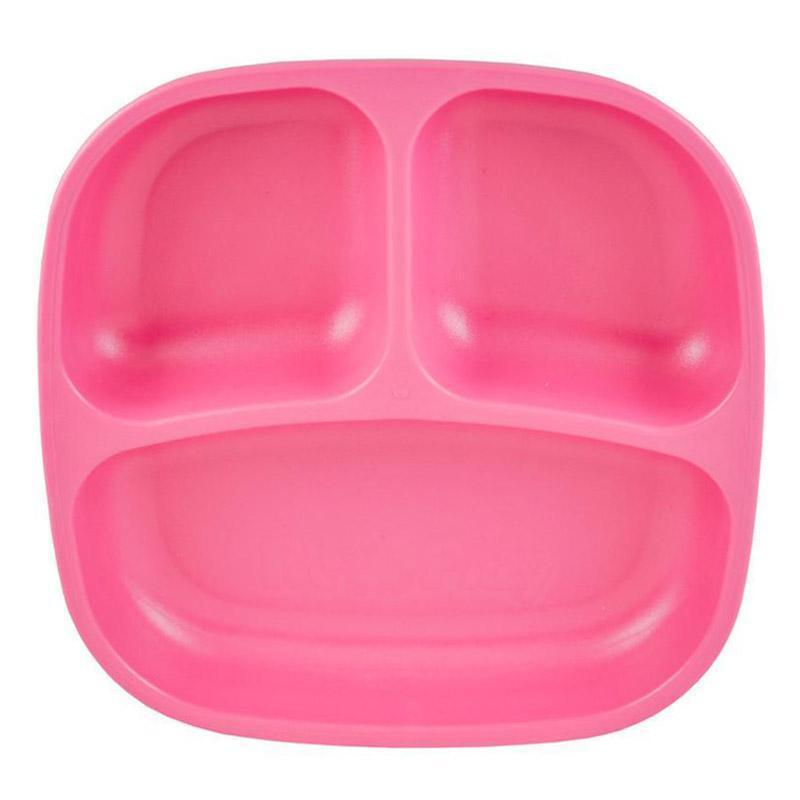 Re-Play Recycled Plastic Divided Plate - Bright Pink | kids at home