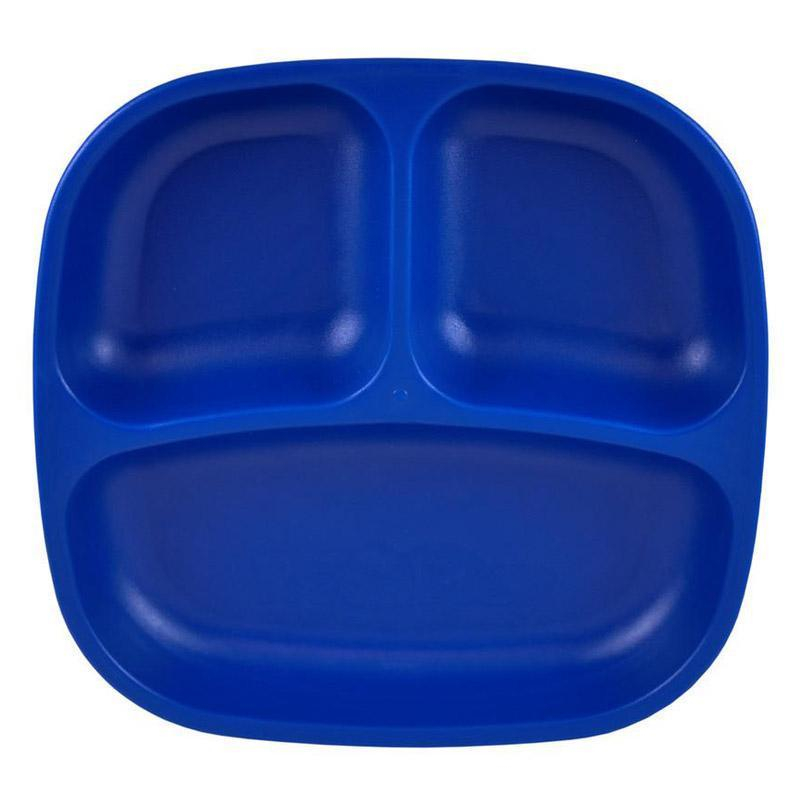 Re-Play Recycled Plastic Divided Plate - Navy Blue | kids at home