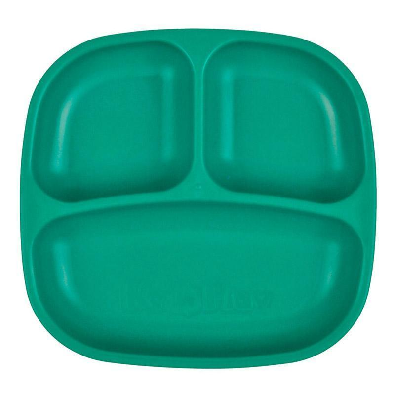 Re-Play Recycled Plastic Divided Plate - Teal | kids at home