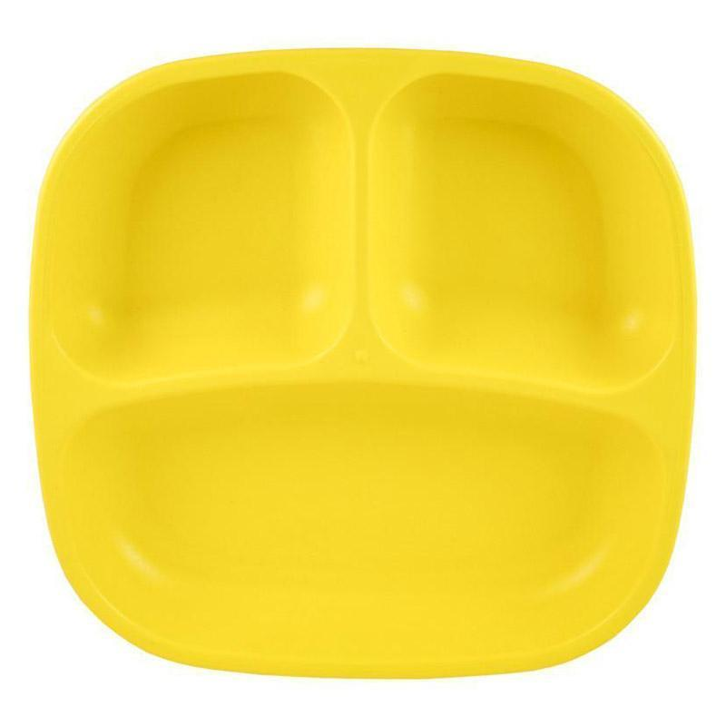 Re-Play Recycled Plastic Divided Plate - Yellow | kids at home