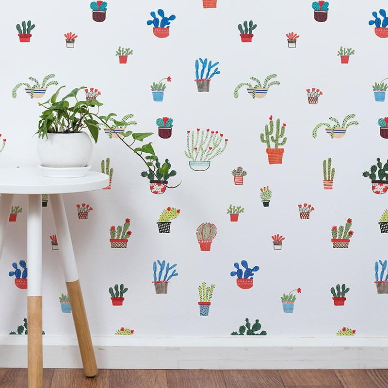 ADzif Elise Gravel Wall Paper - Cactus wallpaper | kids at home
