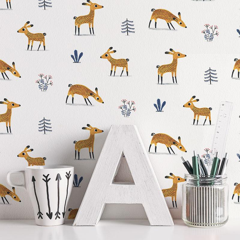 ADzif Elise Gravel Wall Paper - Deers wallpaper | kids at home