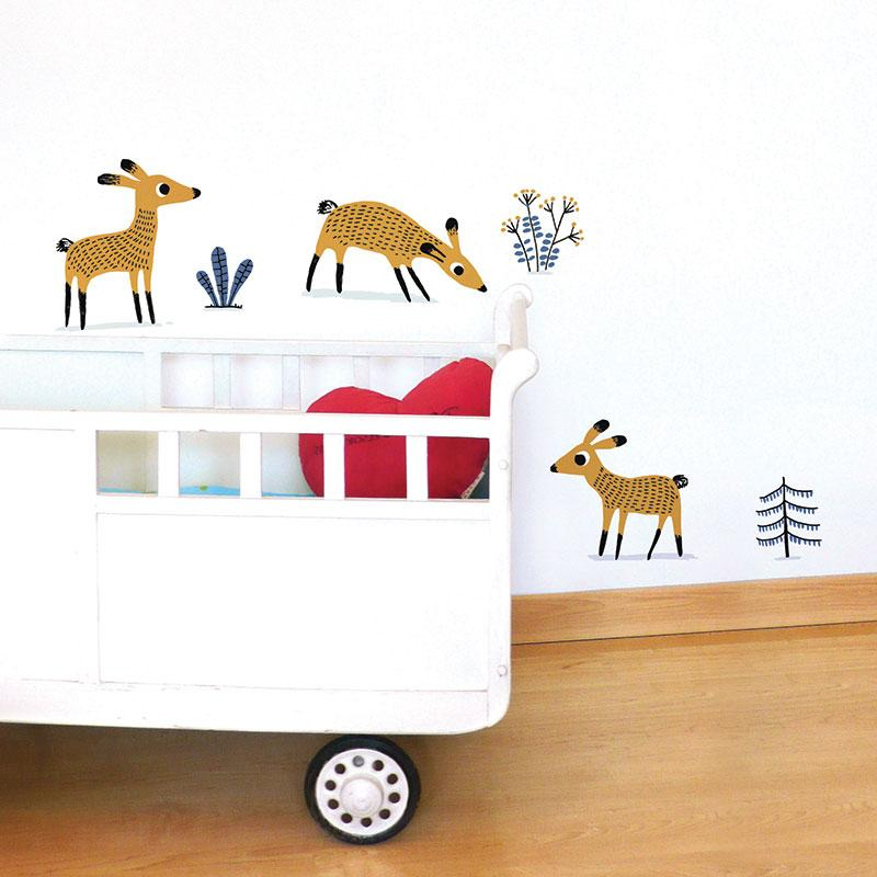 ADzif Elise Gravel Wall Decal - Deers | kids at home