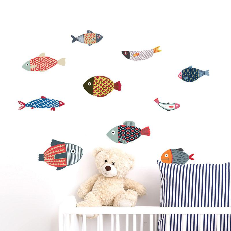 ADzif Elise Gravel Wall Decal - Fish | kids at home