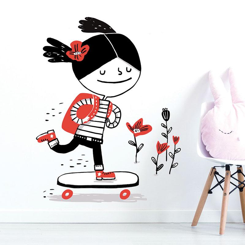 ADzif Elise Gravel Wall Decal - Magda | kids at home