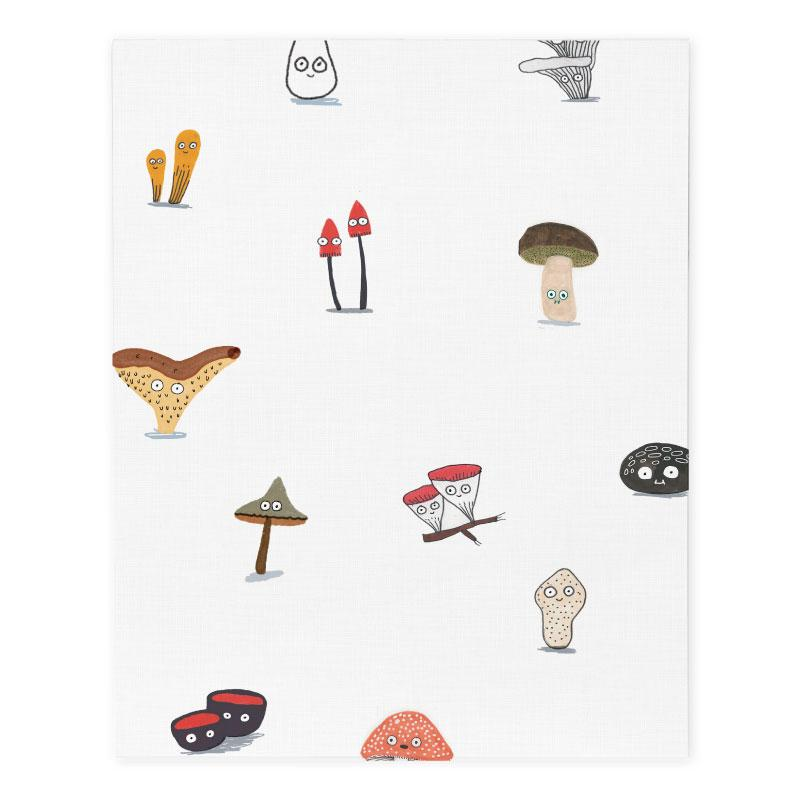 Elise Gravel Wall Paper - Mushrooms