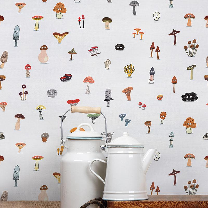ADzif Elise Gravel Wall Paper - Mushrooms wallpaper | kids at home
