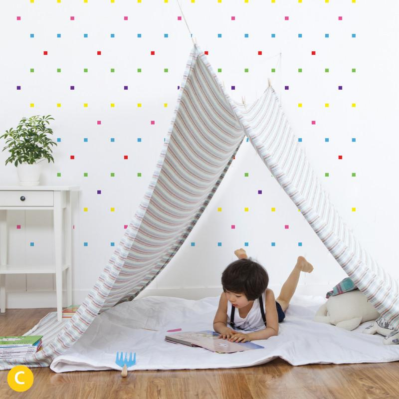 Crazy Square Wall Stickers