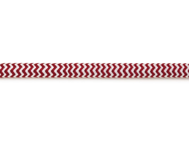 Cord Red & White - Black