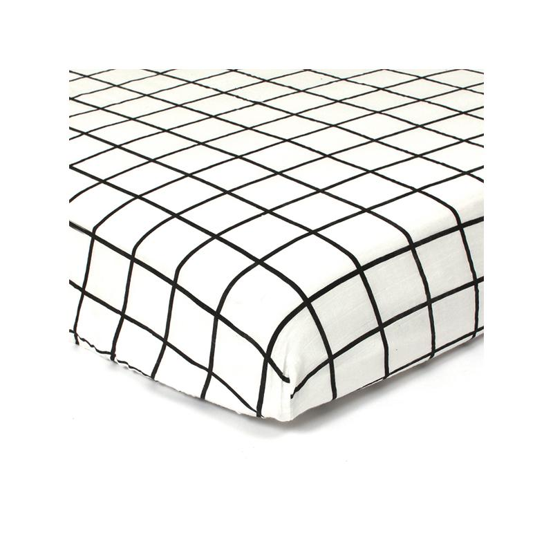 Gautier Studio | Polka Fitted Sheet Black & White