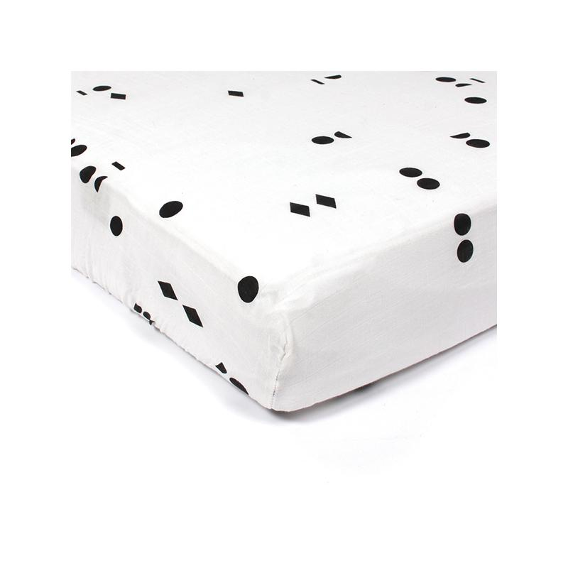 Gautier Studio | Polka Fitted Sheet Black Seeds