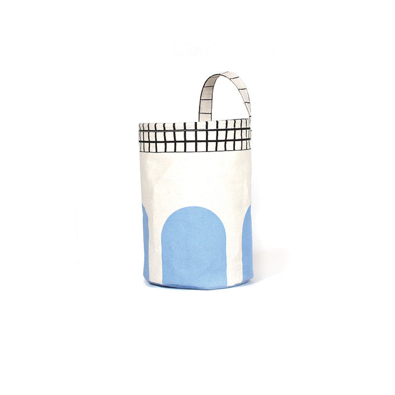 Gautier Studio | Olé Small Circular Storage Basket - Blue
