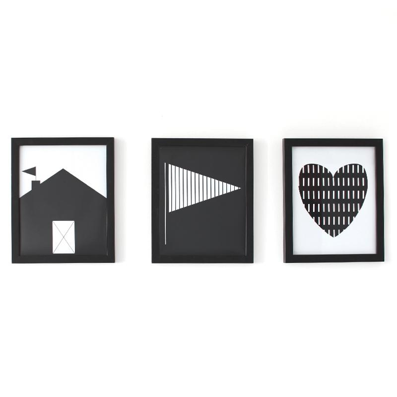 Gautier Studio Set of 3 PEZ Black Frames Frame | kids at home