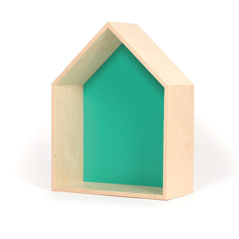 Gautier Studio House Shelf - Green Shelving | kids at home