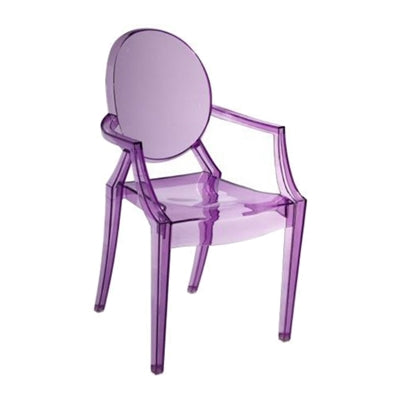 Plata Import Kids Ghost Chair - Purple Chairs | kids at home
