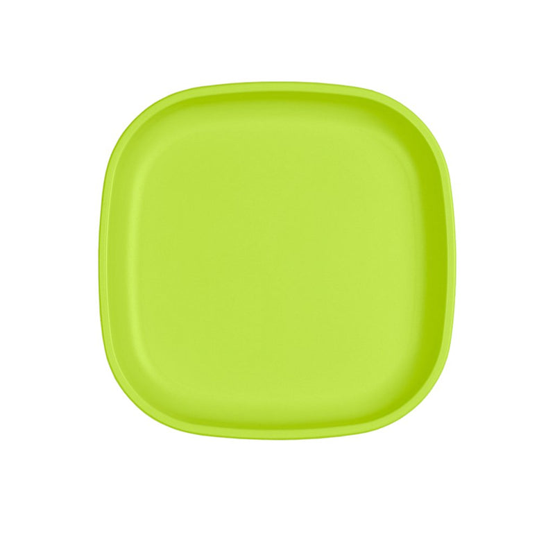 Re-Play Recycled Plastic Large Flat Plate - Lime Green | kids at home