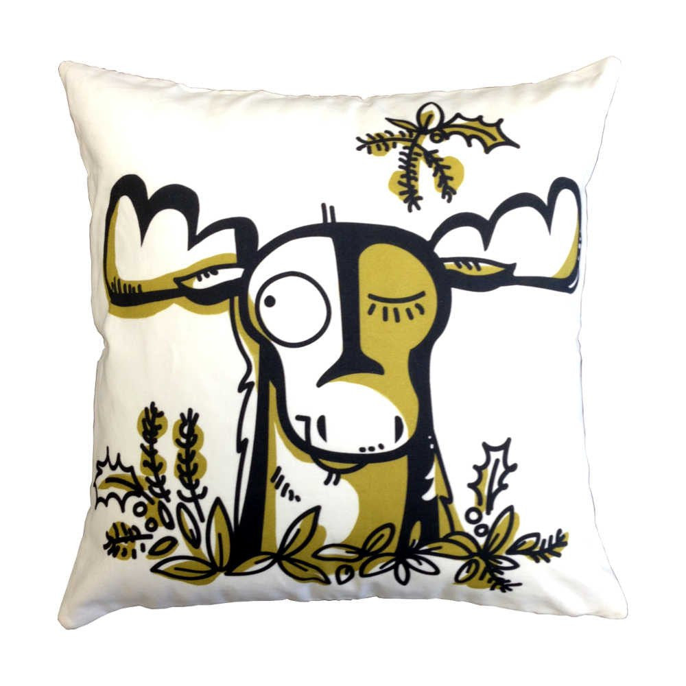 AniZet Designs Moose Pillow Cotton Twill Pillows | kids at home